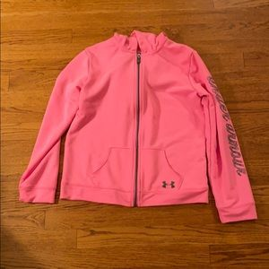 Under Armour girls full zip pink sweatshirt